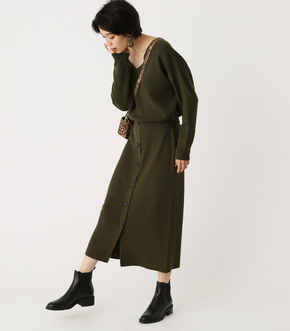 FRONT BUTTON BROWSING ONEPIECE/フロントボタンブラウジングワンピース