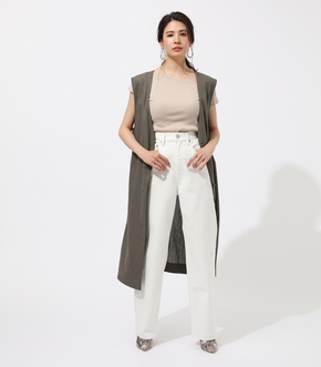 COTTON LINEN GILLET