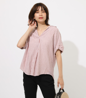 【AZUL BY MOUSSY】STRIPE SKIPPEER SHIRT