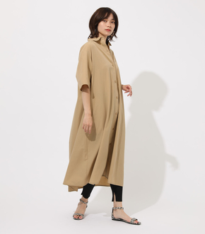 【AZUL BY MOUSSY】FLARE LONG SHIRTS ONE PIECE