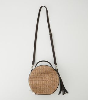 【AZUL BY MOUSSY】CIRCLE STRAWMESH SHOULDER BAG
