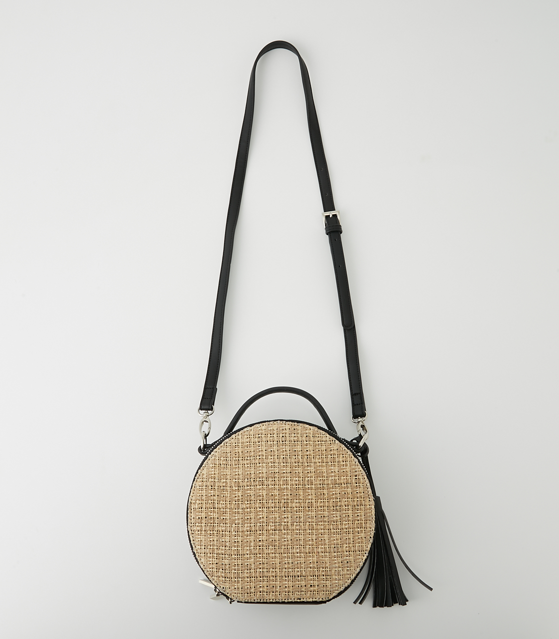 CIRCLE STRAWMESH SHOULDER BAG 詳細画像 柄BLK 1