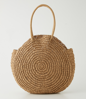 【AZUL BY MOUSSY】CIRCLE STRAW BIG TOTE BAG