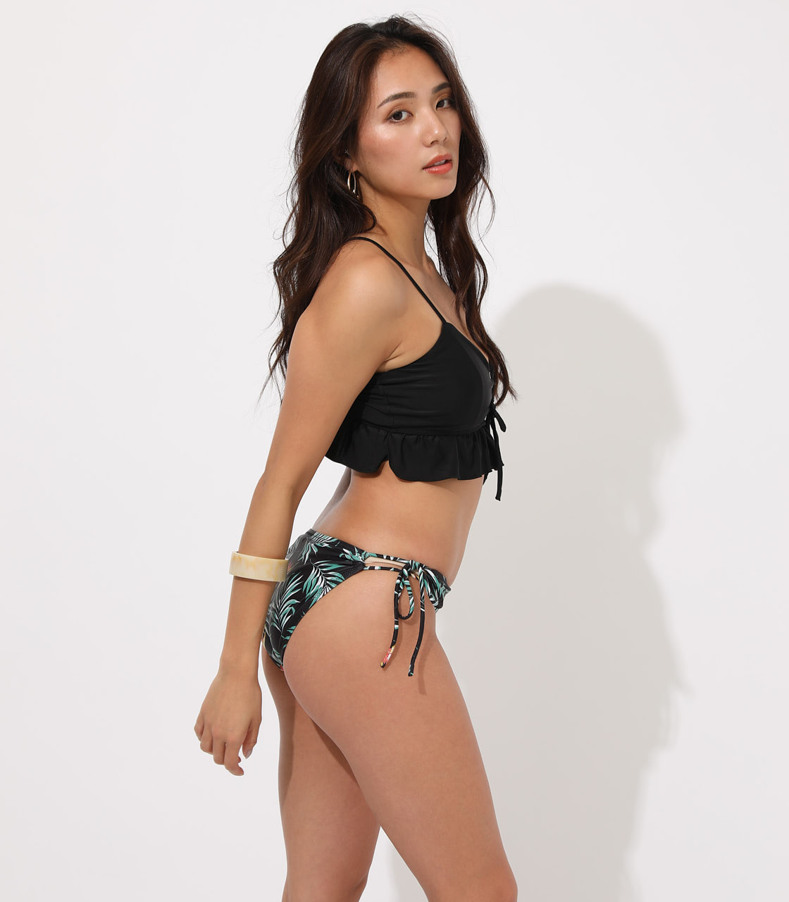 【AZUL BY MOUSSY】LACE UP BIKINI 3-PIECE SET 詳細画像 柄BLK 3