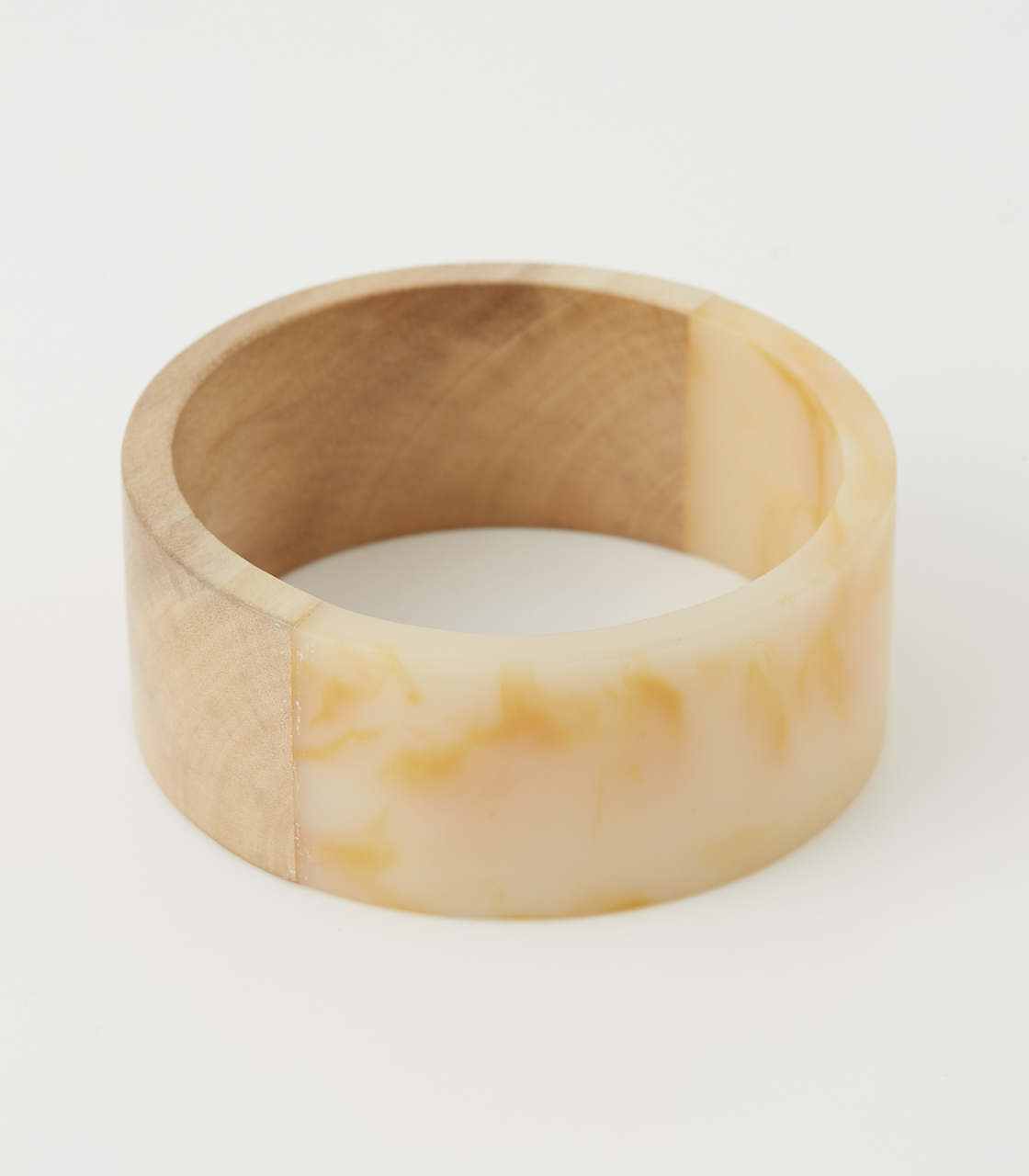 WOOD BLOCKING BANGLE 詳細画像 柄WHT 1