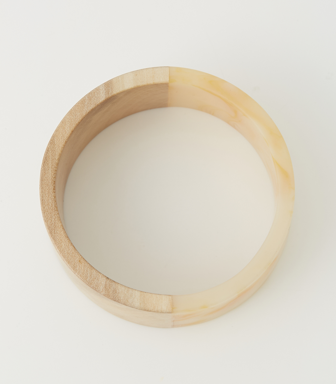 WOOD BLOCKING BANGLE 詳細画像 柄WHT 2