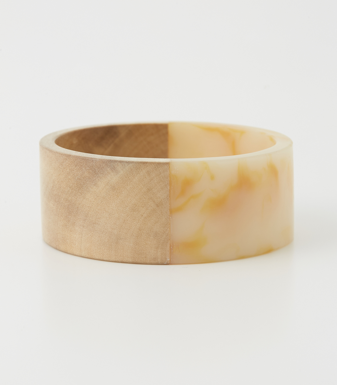 WOOD BLOCKING BANGLE 詳細画像 柄WHT 3