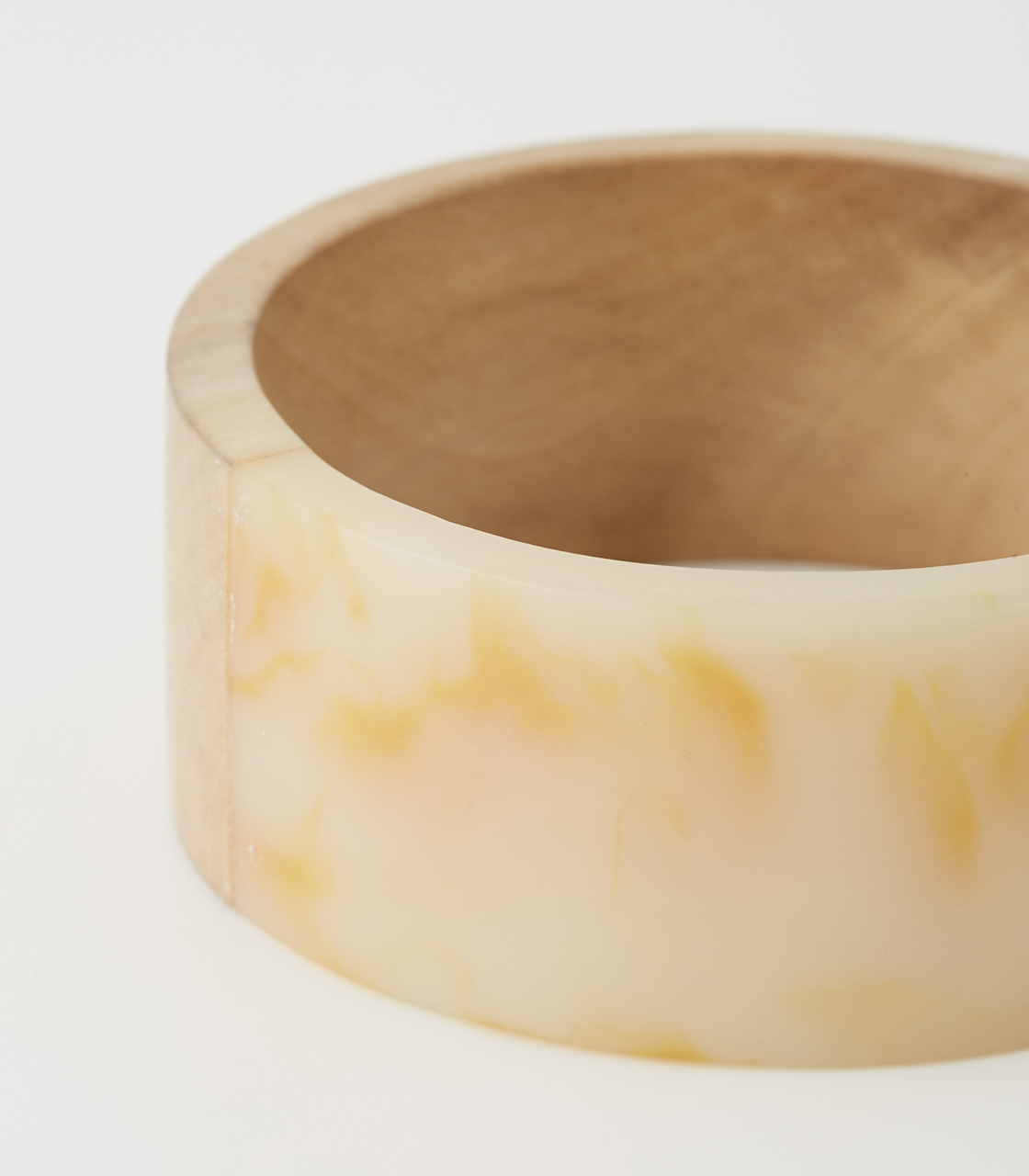 WOOD BLOCKING BANGLE 詳細画像 柄WHT 5