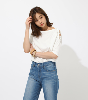 【AZUL BY MOUSSY】SHOULDER LACEUP TOPS