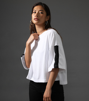 【AZUL BY MOUSSY】CLUB AZUL SLEEVE LINE TEE 詳細画像