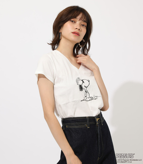LIMITED SNOOPY V NECK TEE