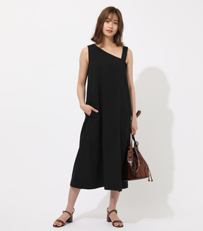 【AZUL BY MOUSSY】ASYMMETRY NECK LONG ONEPIECE