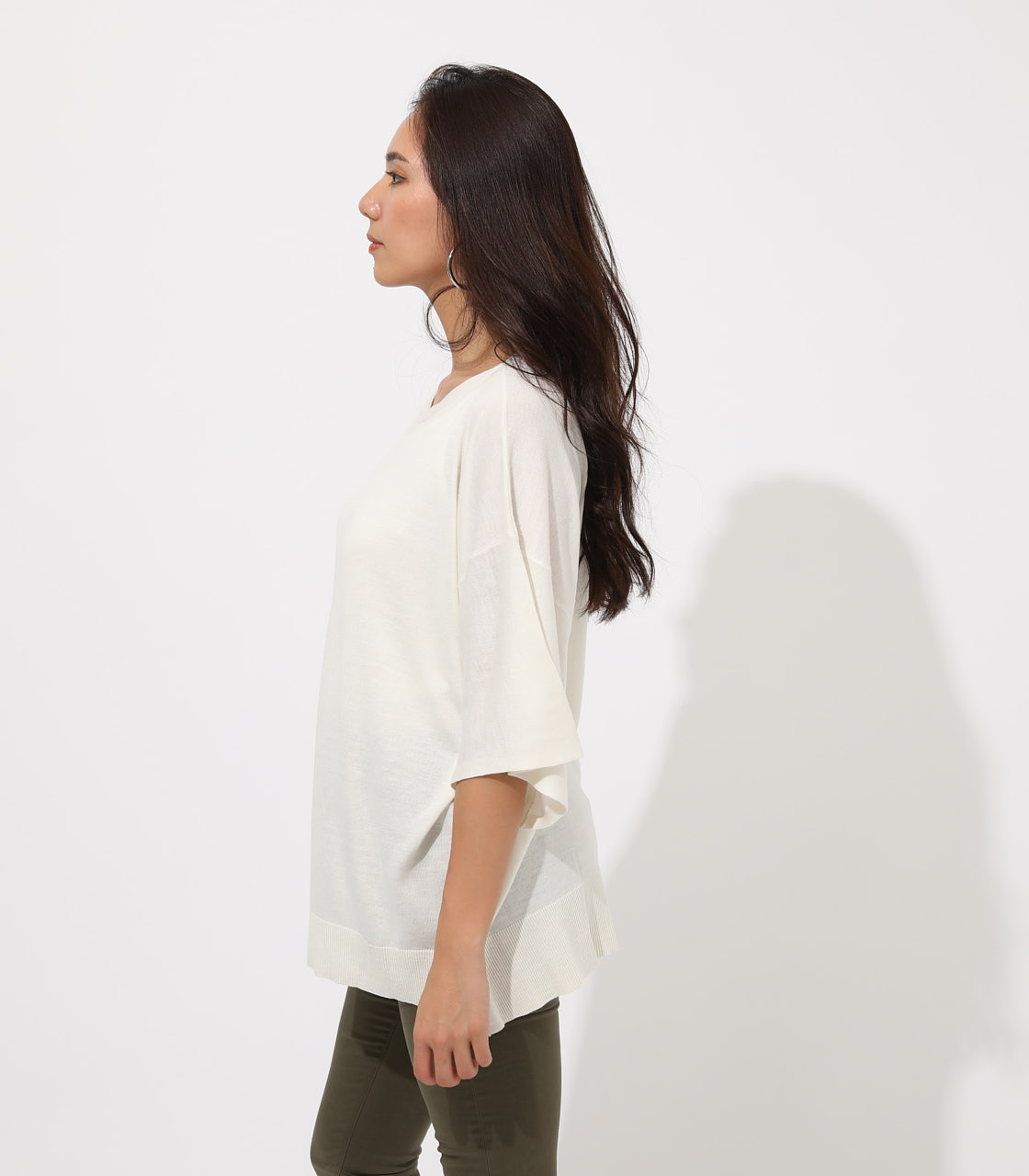 【AZUL BY MOUSSY】SQUARE LOOSE KNIT TOPS 詳細画像 O/WHT 5