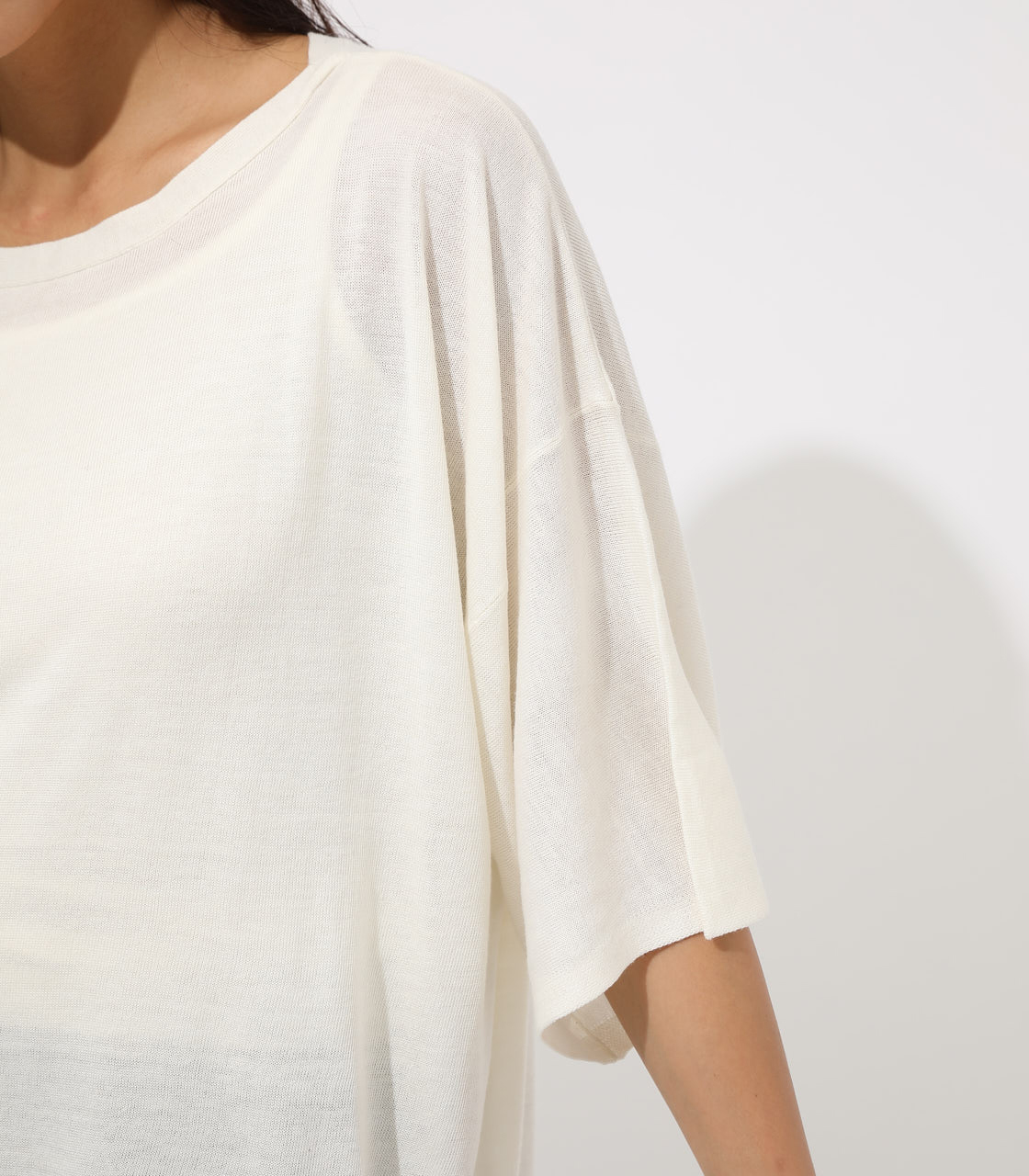 【AZUL BY MOUSSY】SQUARE LOOSE KNIT TOPS 詳細画像 O/WHT 8
