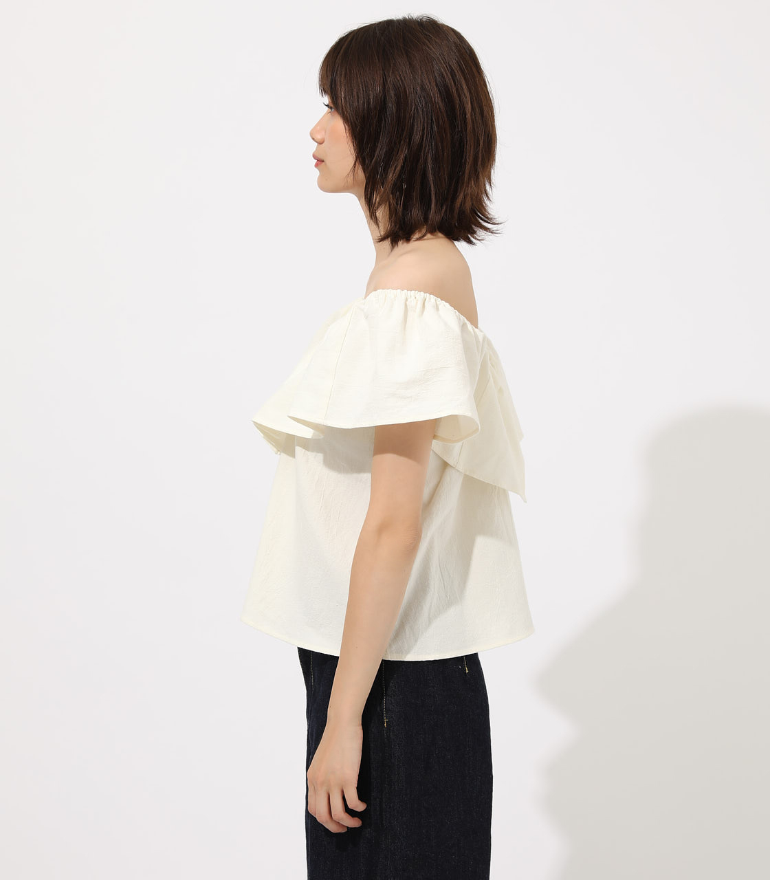 【AZUL BY MOUSSY】RUFFLE 2WAY BLOUSE 詳細画像 O/WHT 5