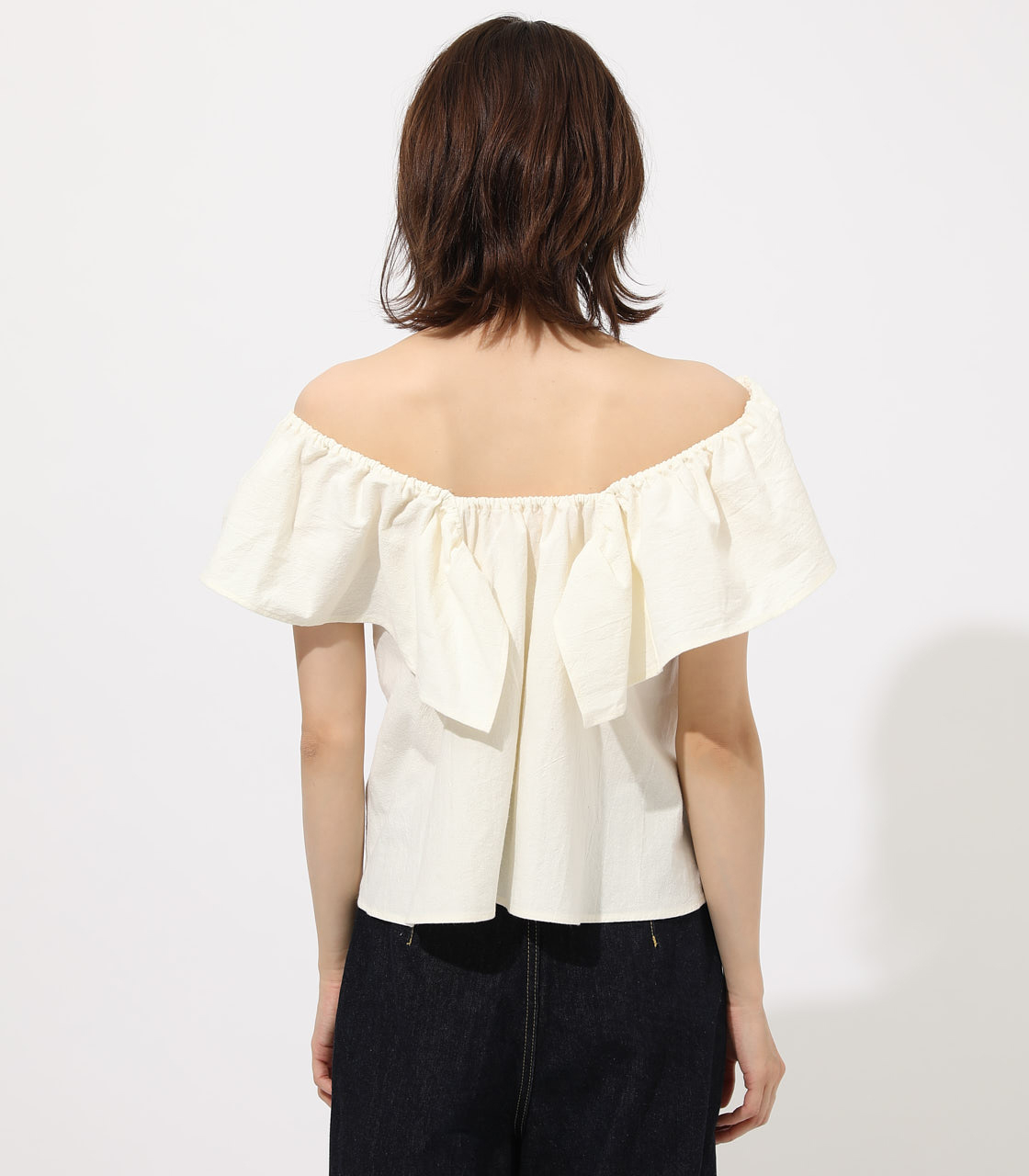 【AZUL BY MOUSSY】RUFFLE 2WAY BLOUSE 詳細画像 O/WHT 6