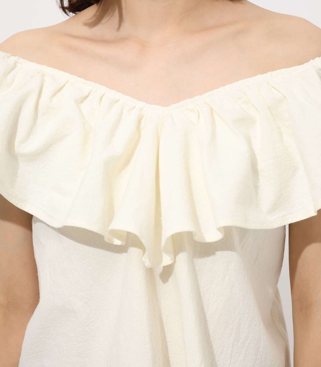 【AZUL BY MOUSSY】RUFFLE 2WAY BLOUSE 詳細画像 O/WHT 7
