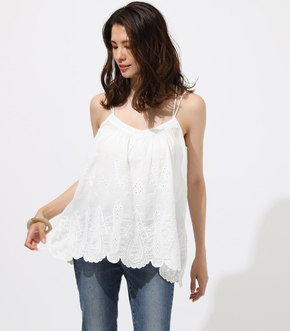 COTTON LASE CAMISOLE TOPS