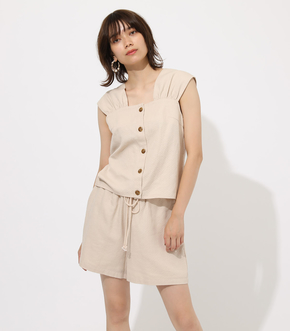 【AZUL BY MOUSSY】GATHER LINEN BLOUSE
