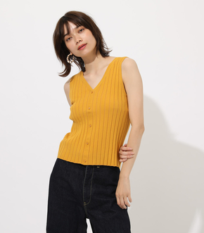 【AZUL BY MOUSSY】2WAY WIDE RIB KNIT TOPS