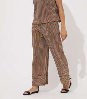 AFRICAN STRIPS PLEATED PANTS