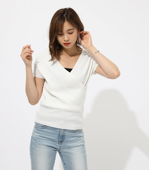 【AZUL BY MOUSSY】CACHE-COEUR KNIT TOPS