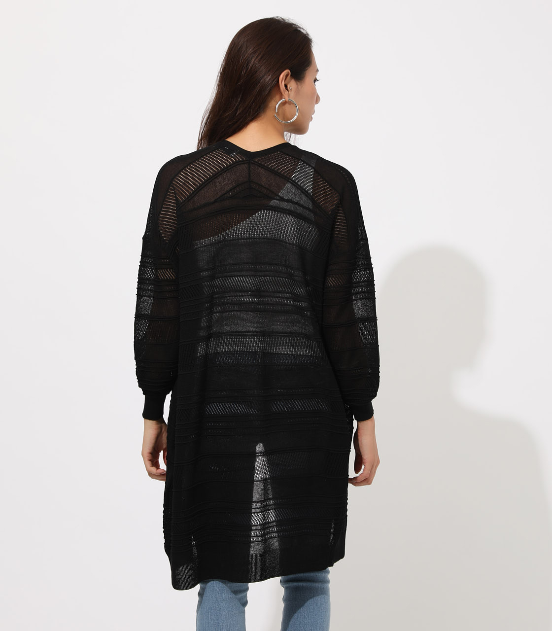 SHADOW BORDER KNIT CARDIGAN 詳細画像 BLK 6