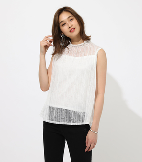 【AZUL BY MOUSSY】FRILL NECK LACE TOPS