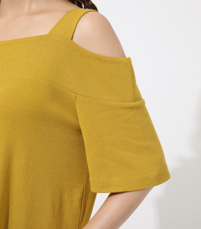 WIDE STRAP OPEN SHOULDER TOPS 詳細画像