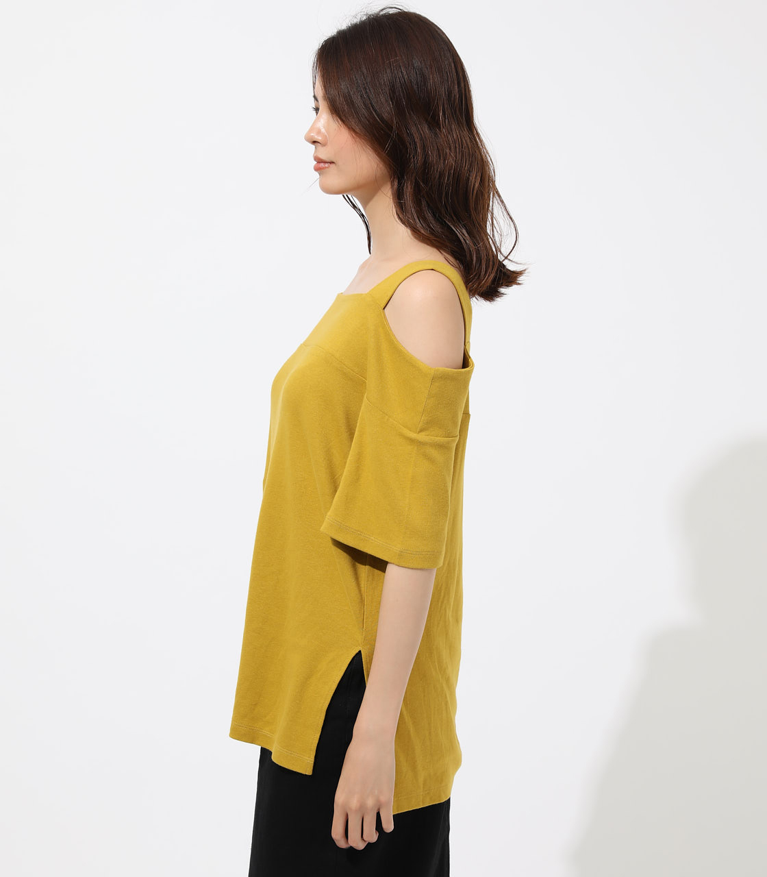 WIDE STRAP OPEN SHOULDER TOPS 詳細画像 D/YEL 5