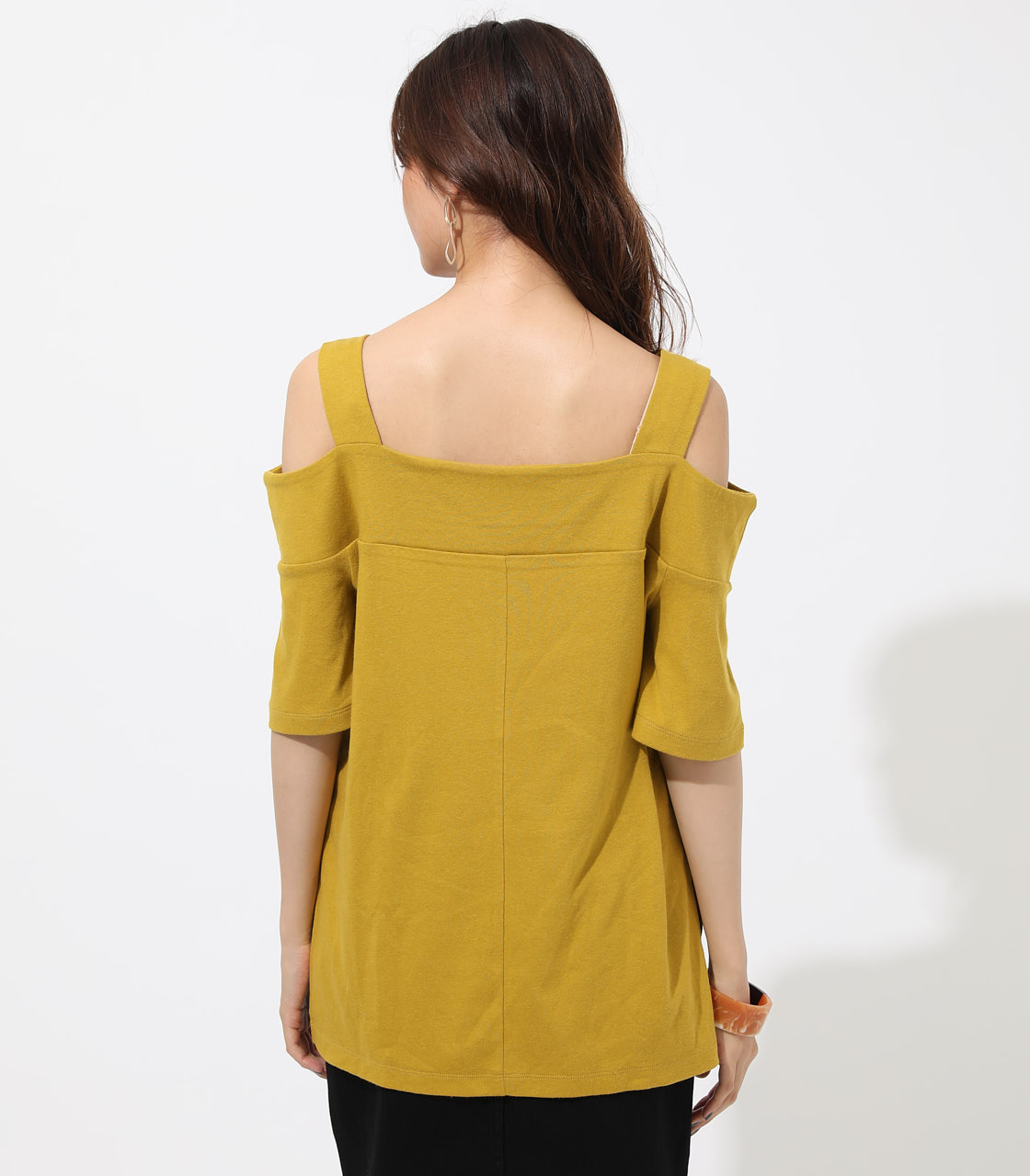 WIDE STRAP OPEN SHOULDER TOPS 詳細画像 D/YEL 6