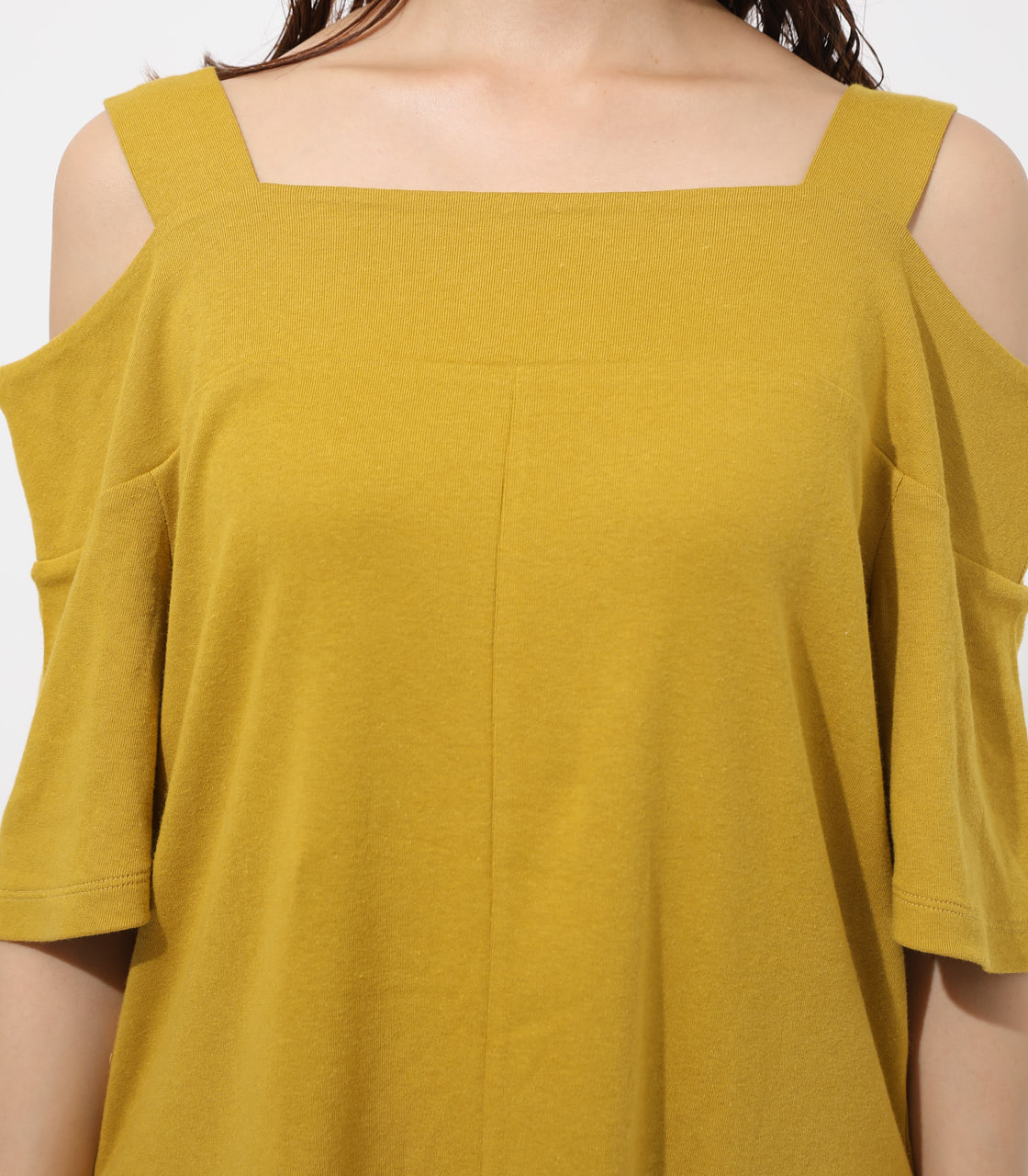 WIDE STRAP OPEN SHOULDER TOPS 詳細画像 D/YEL 7