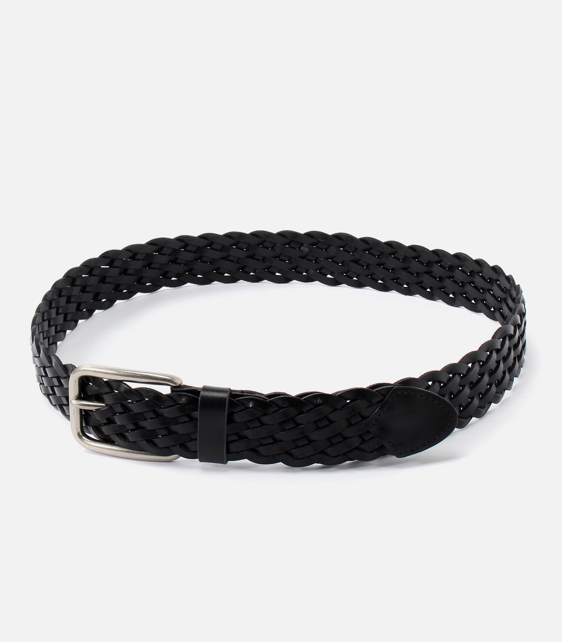 【AZUL BY MOUSSY】MESH LEATHER BELT 詳細画像 BLK 1
