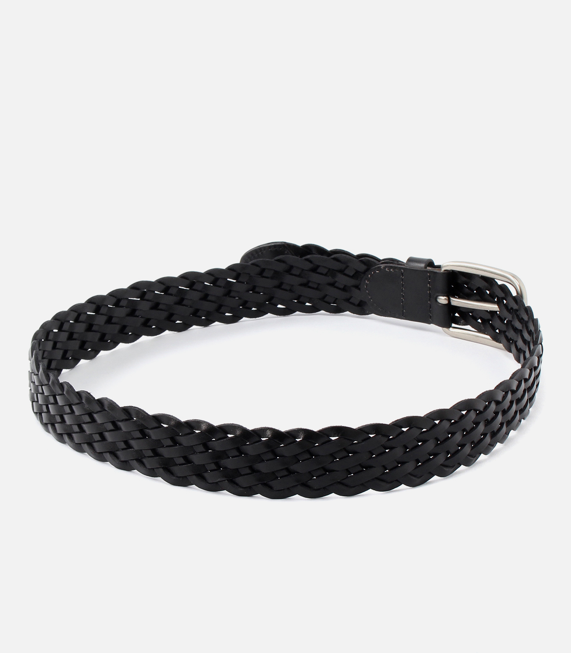 MESH LEATHER BELT 詳細画像 BLK 2