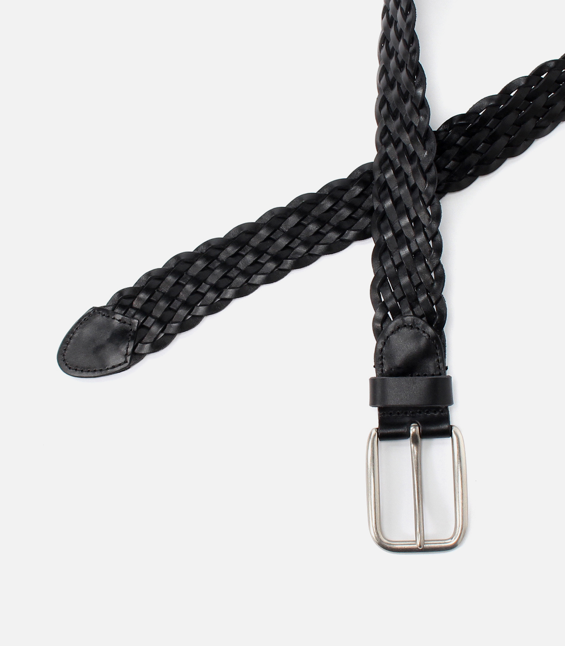 MESH LEATHER BELT 詳細画像 BLK 4