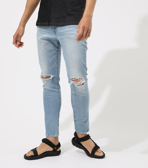 WHITE STITCH CRASH SKINNY
