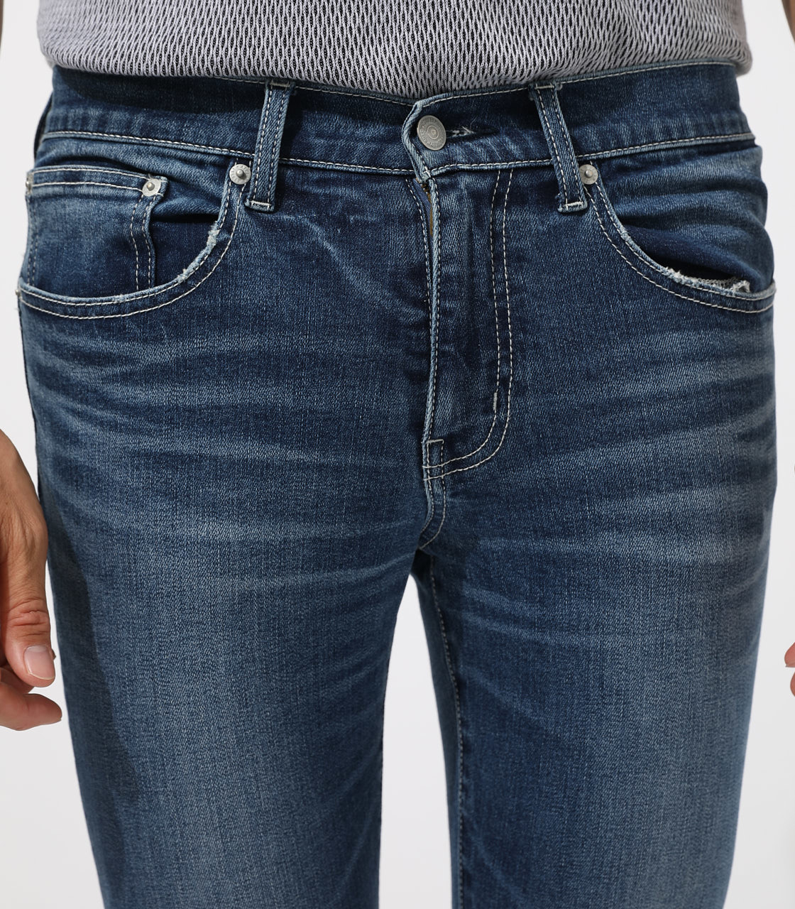 【AZUL BY MOUSSY】WHITE STITCH CRASH SKINNY 詳細画像 BLU 7