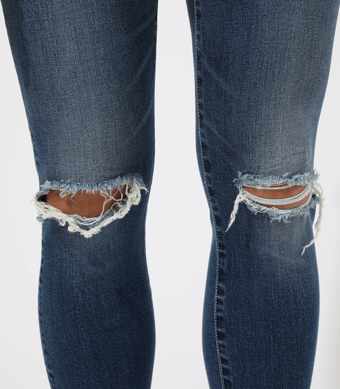 【AZUL BY MOUSSY】WHITE STITCH CRASH SKINNY 詳細画像 BLU 9