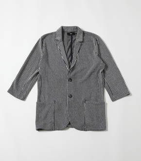 STRIPE 3/4 SLEEVE EASY JACKET