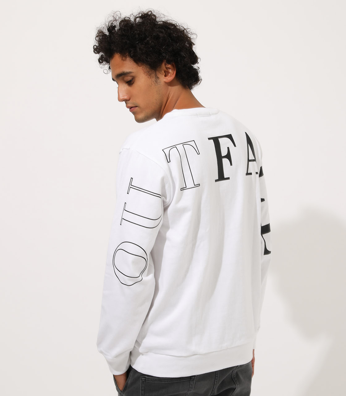 OUTFACE PRINT PULLOVER/アウトフェイスプリントプルオーバー 詳細画像 WHT 1