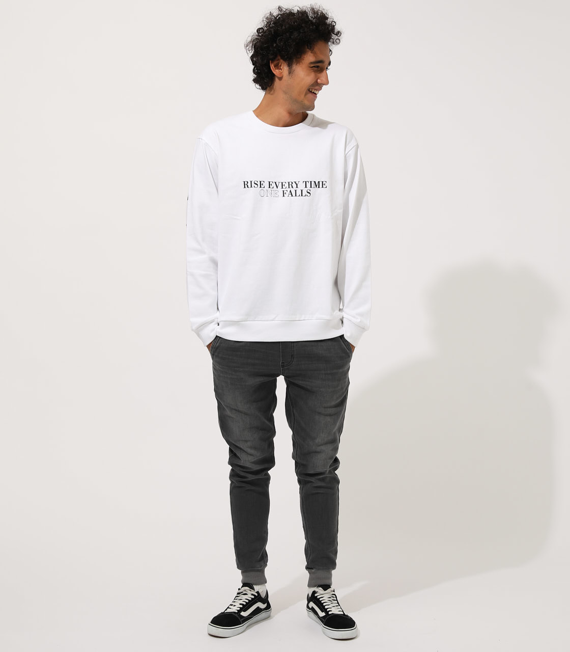 OUTFACE PRINT PULLOVER/アウトフェイスプリントプルオーバー 詳細画像 WHT 3