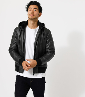 FAKE LEATHER THERMORE BLOUSON/フェイクレザーサーモアブルゾン