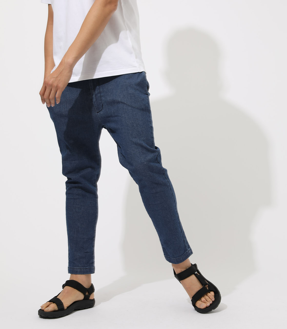 AIR BLOW DENIM ANKLE TAPERED 詳細画像 BLU 1
