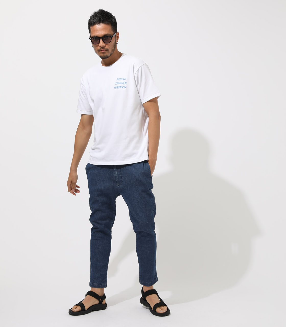 AIR BLOW DENIM ANKLE TAPERED 詳細画像 BLU 3