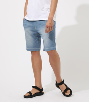 AIR BLOW DENIM SHORT PANTS