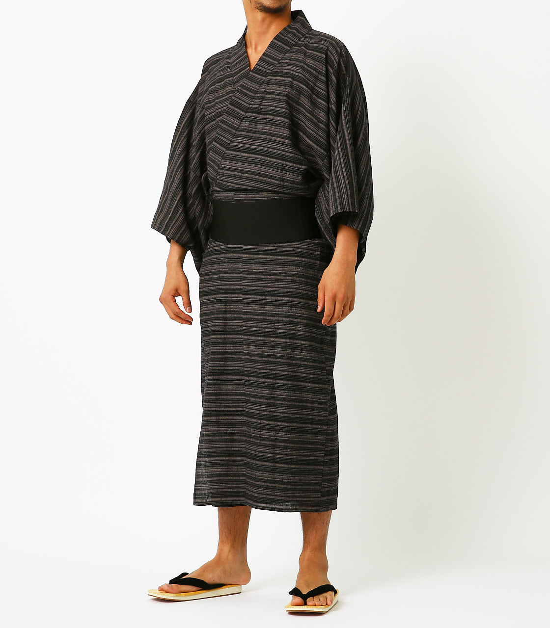 LINEN COTTON YUKATA 詳細画像 BLK 1