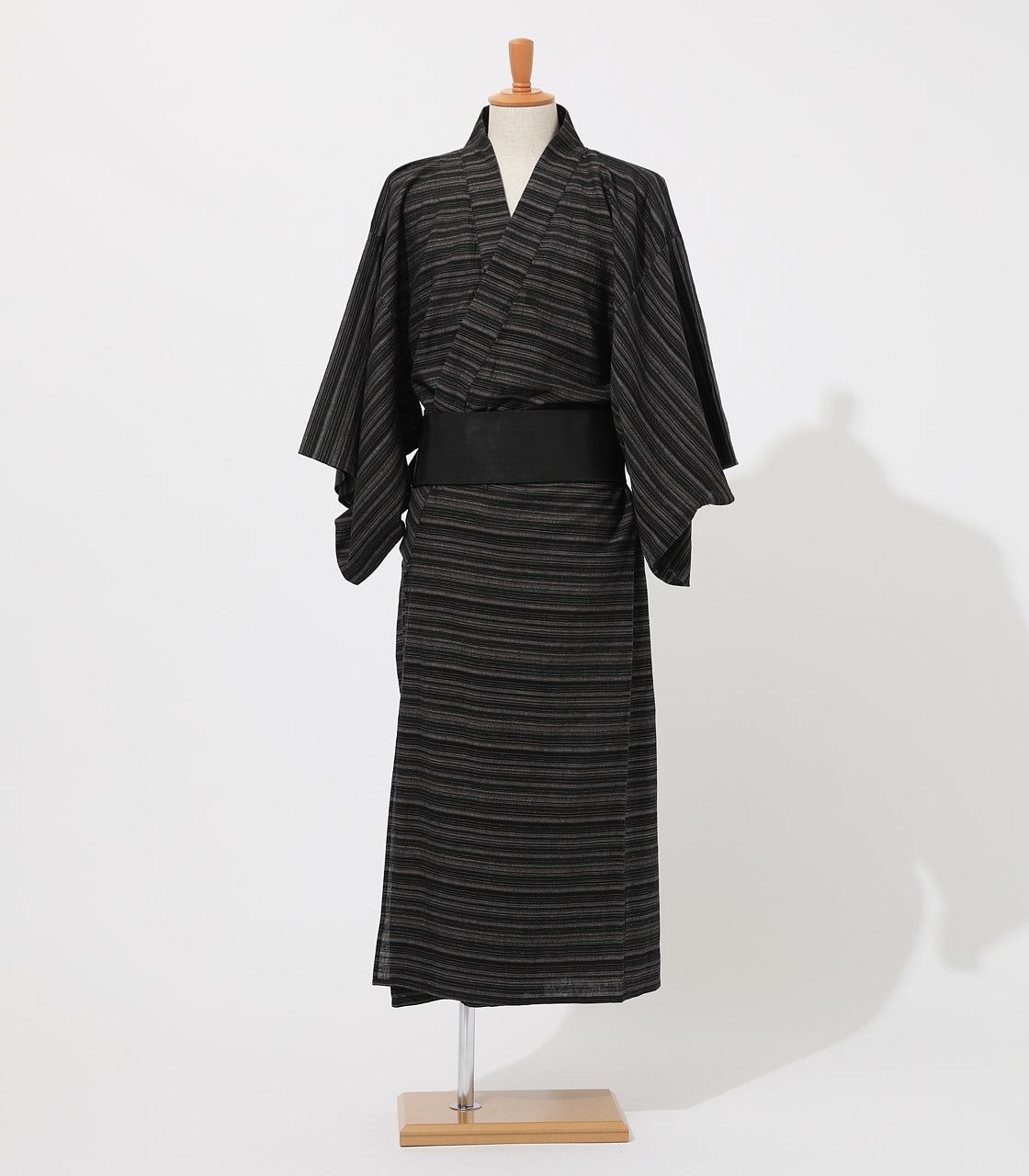 LINEN COTTON YUKATA 詳細画像 BLK 2