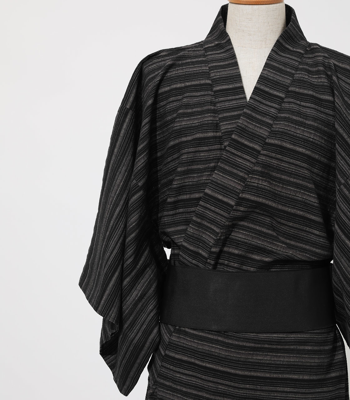 LINEN COTTON YUKATA 詳細画像 BLK 6