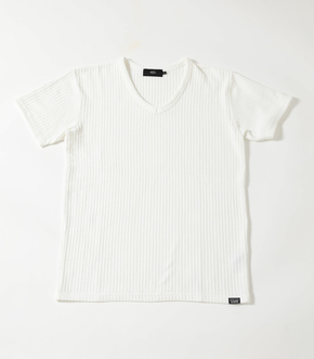 【AZUL BY MOUSSY】BIG WAFFLE Vネック T-SHIRT