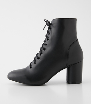 LACE UP HEEL BOOTS/レースアップヒールブーツ 詳細画像